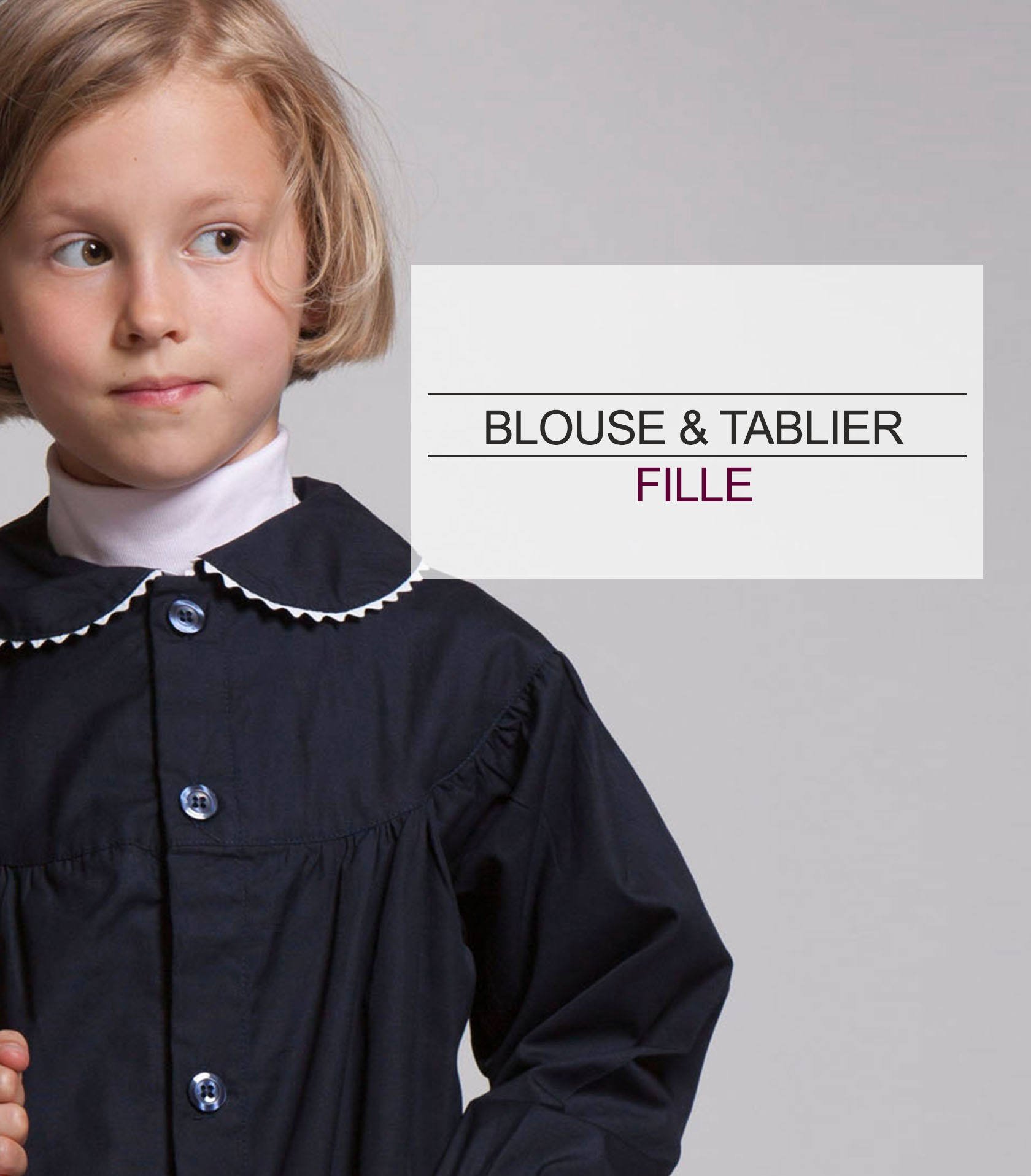 acanthe blouse tablier fille