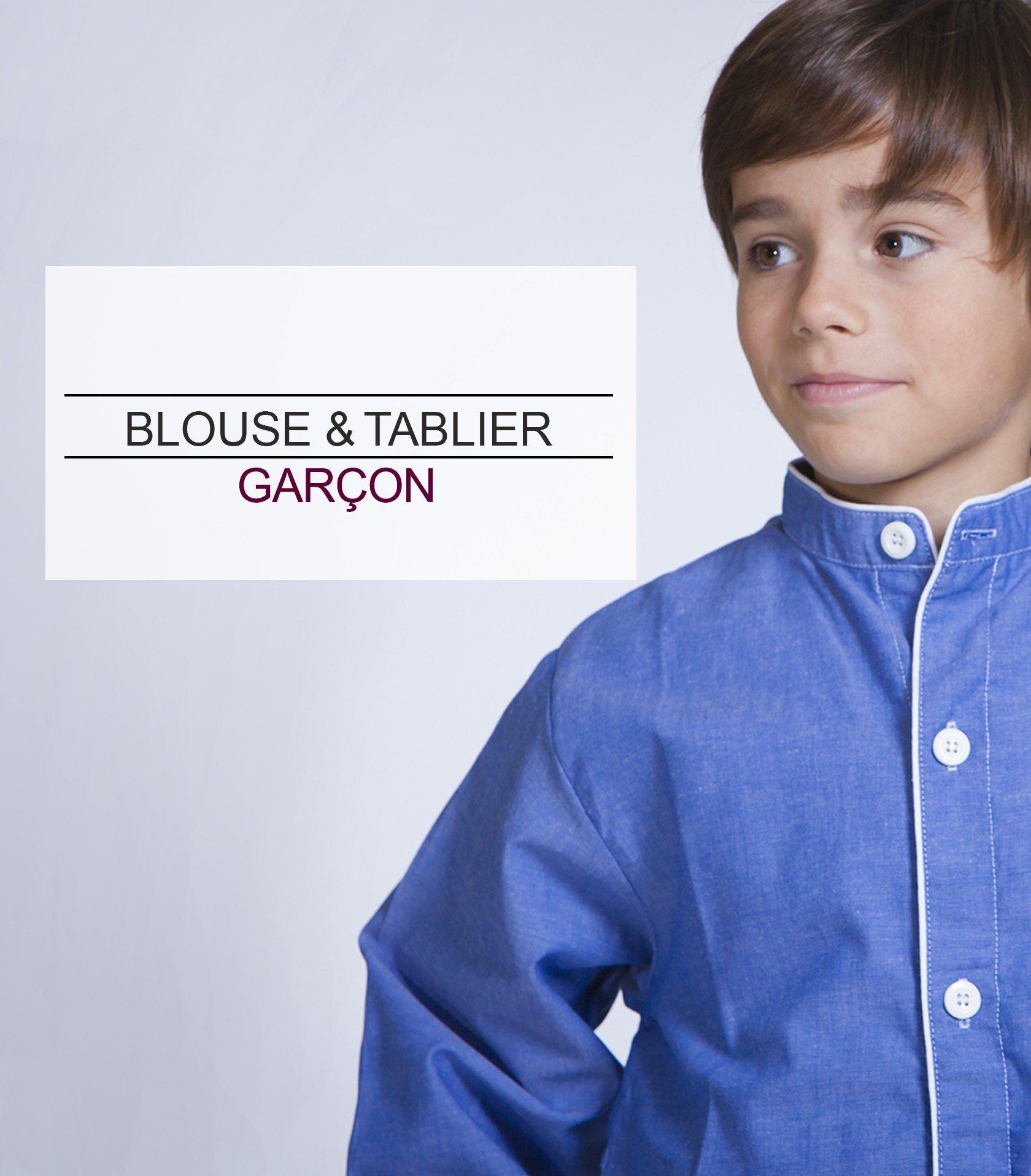 acanthe blouse tablier garçon