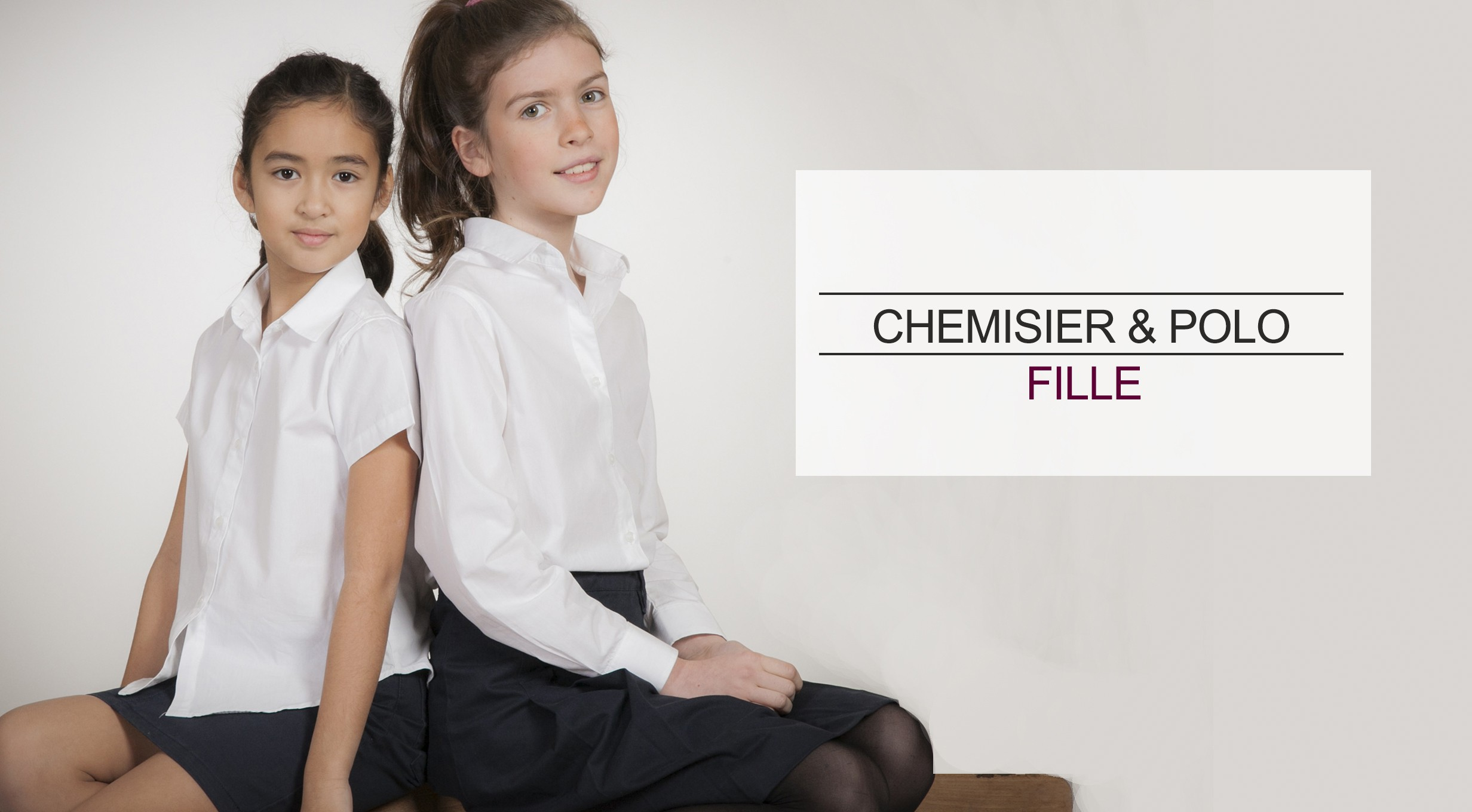 acanthe chemisier chemise polo fille