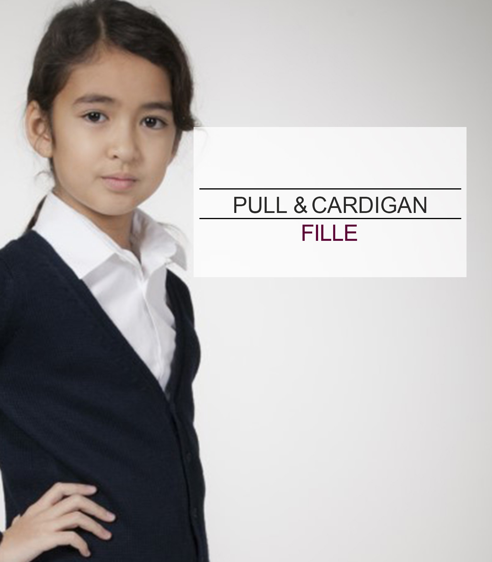 acanthe pull cardigan fille